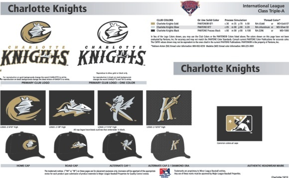 Charlotte Knights logo set