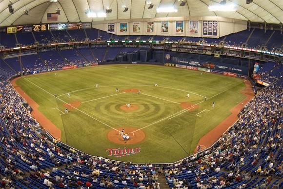 In Metrodome Today Somebody Played Like >> Hubert H Humphrey Metrodome Minnesota Golden Gophers Ballpark