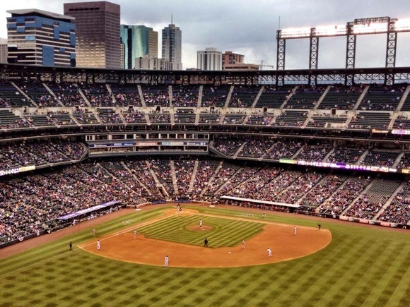 baseball s ultimate party deck at coors field ballpark digest