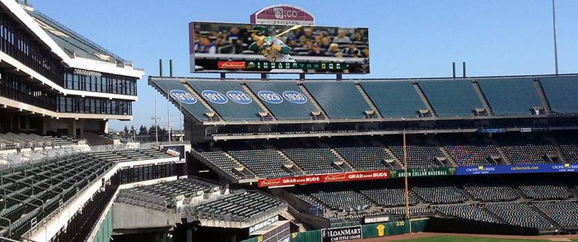 O.Co Coliseum videoboard, Oakland Athletics