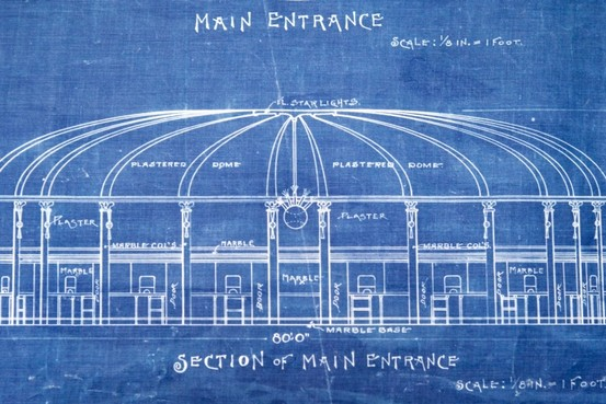 Ebbets Field rotunda blueprint