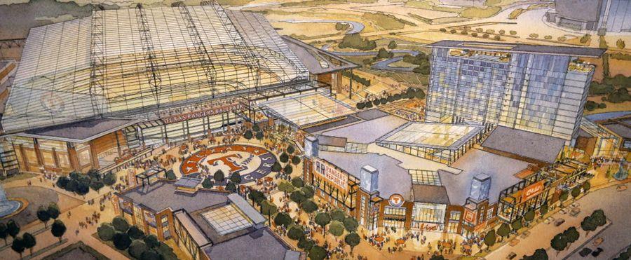 Proposed Texas Rangers ballpark