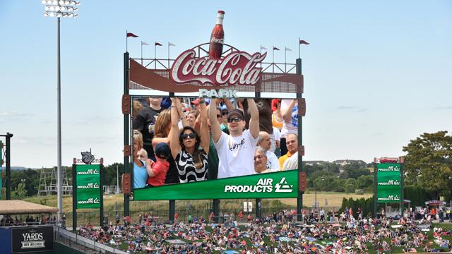 coca cola park new videoboard