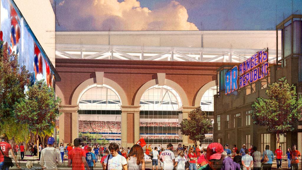 Texas Rangers ballpark rendering -- Jan. 5, 2017
