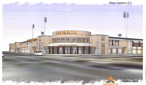 Proposed Amarillo ballpark, July 20, 2017