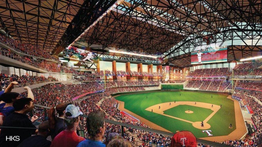 New Texas Rangers ballpark rendering