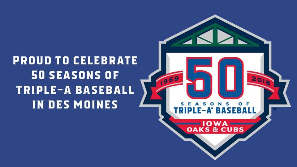 Iowa Cubs 50th logo