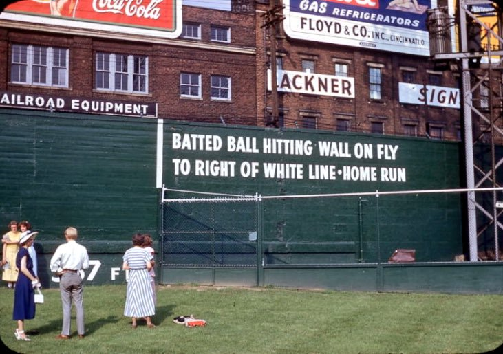Crosley Field ground rules