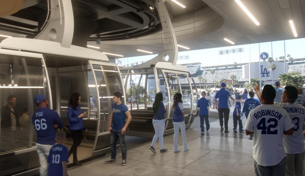 Dodger Stadium gondola rendering
