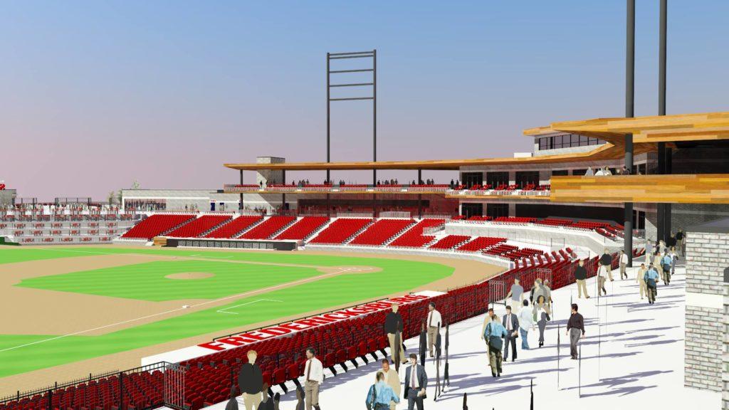 New Fredericksburg ballpark rendering