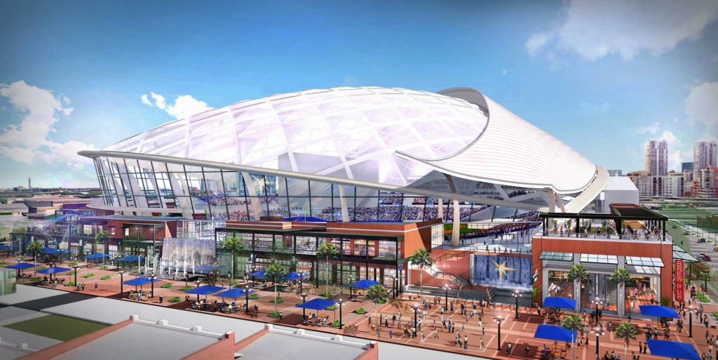 Tampa Bay Rays Ybor City ballpark rendering 2