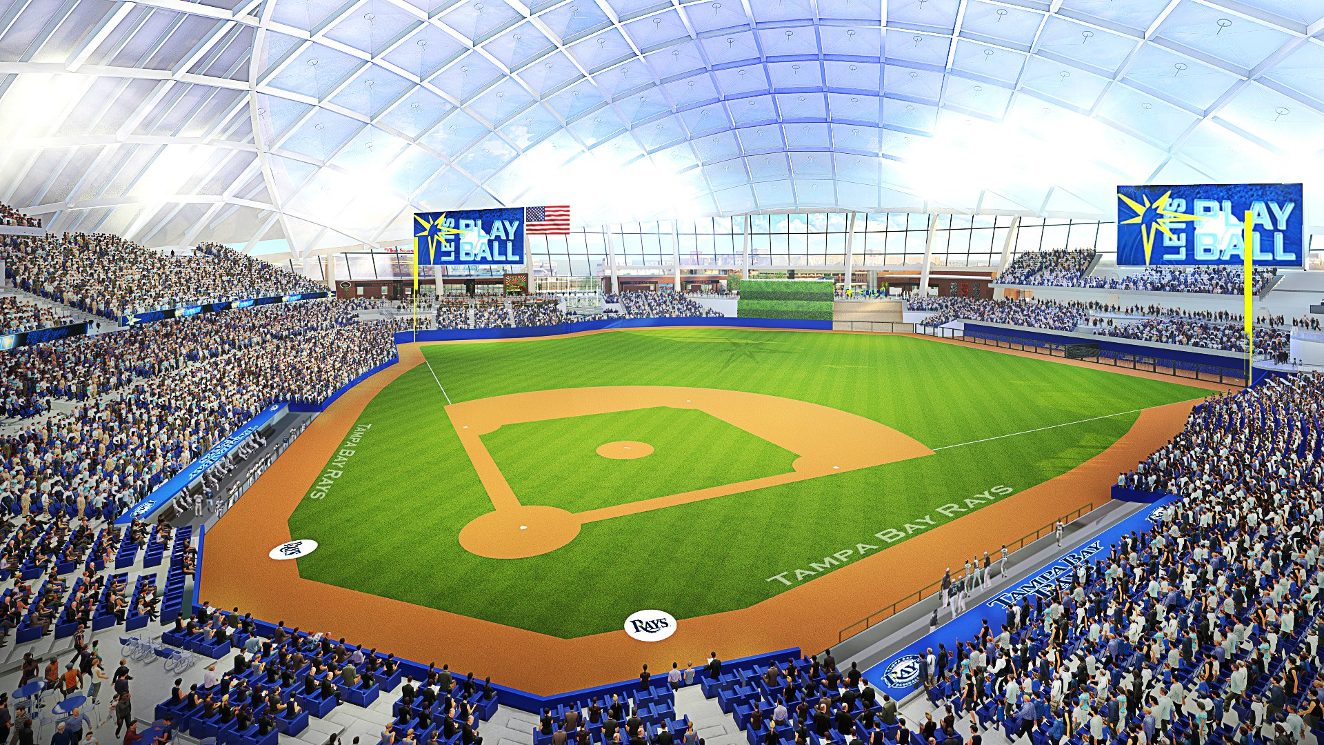 Tampa Bay Rays Ybor City ballpark rendering 8