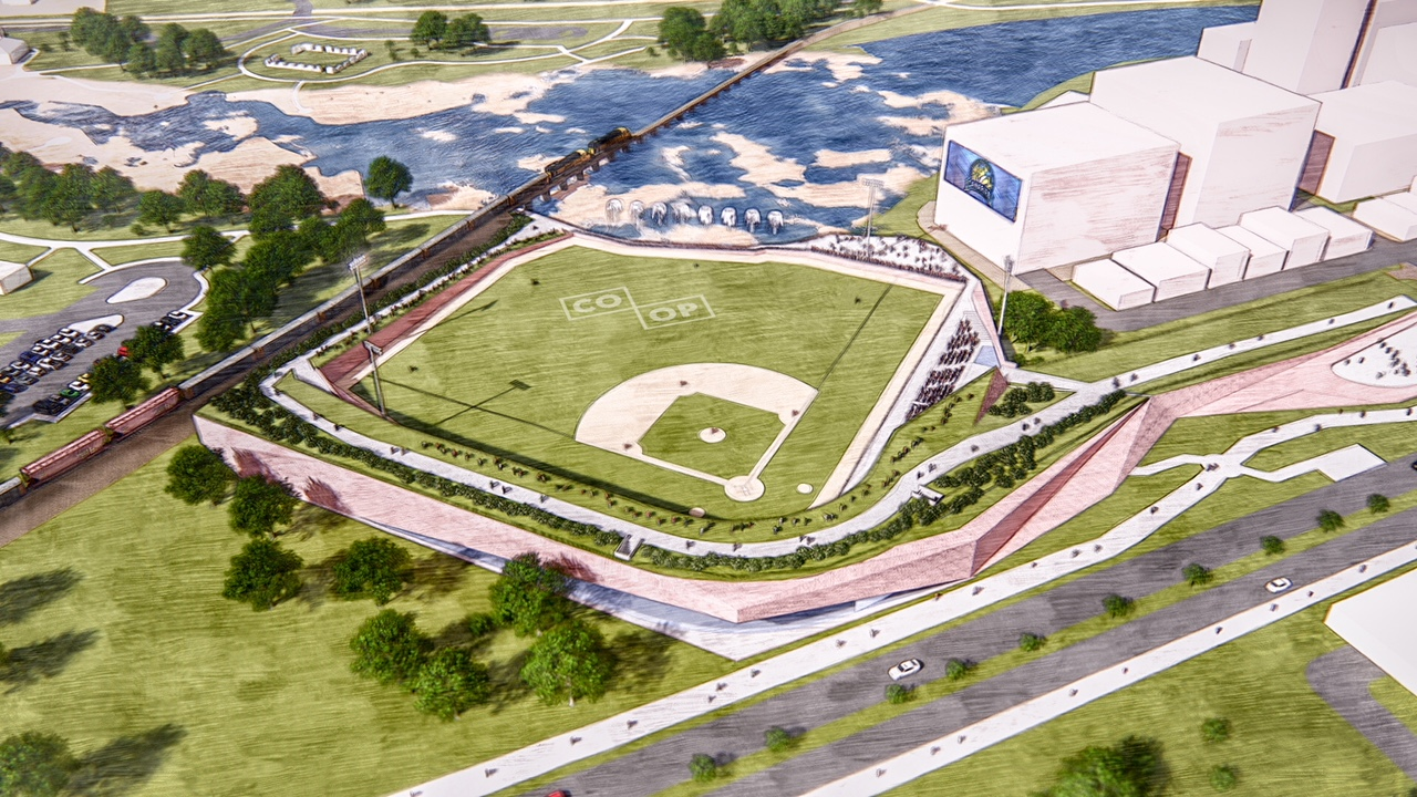 Conceptual drawing of new Sioux Falls ballpark