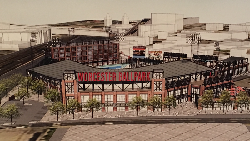 New Worcester ballpark concept