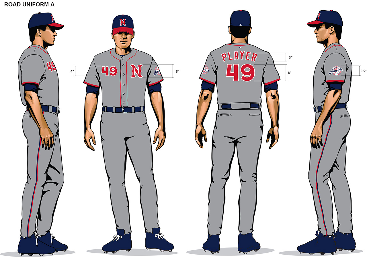 Nashville Sounds away uniforms 2019