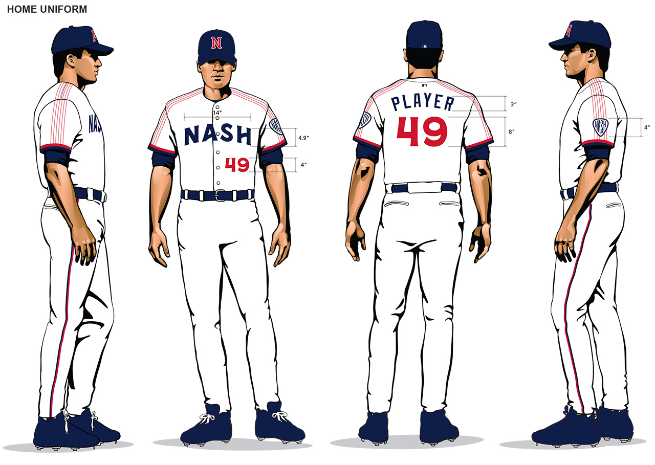 Nashville Sounds home uniforms 2019