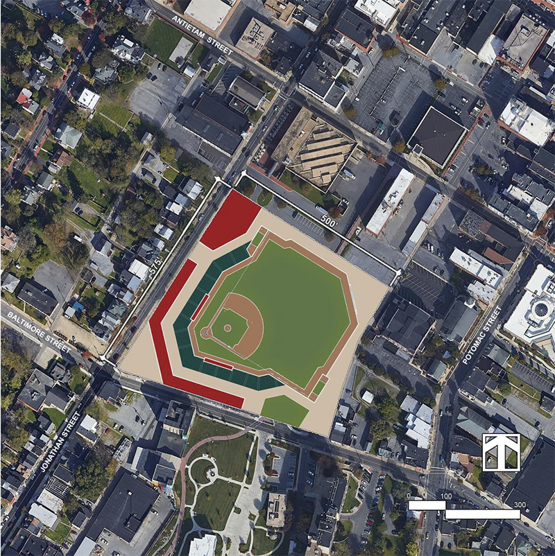 Proposed Hagerstown Suns ballpark site