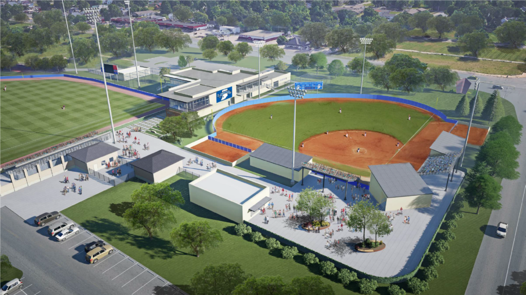 Indiana State University baseball and softball complex rendering