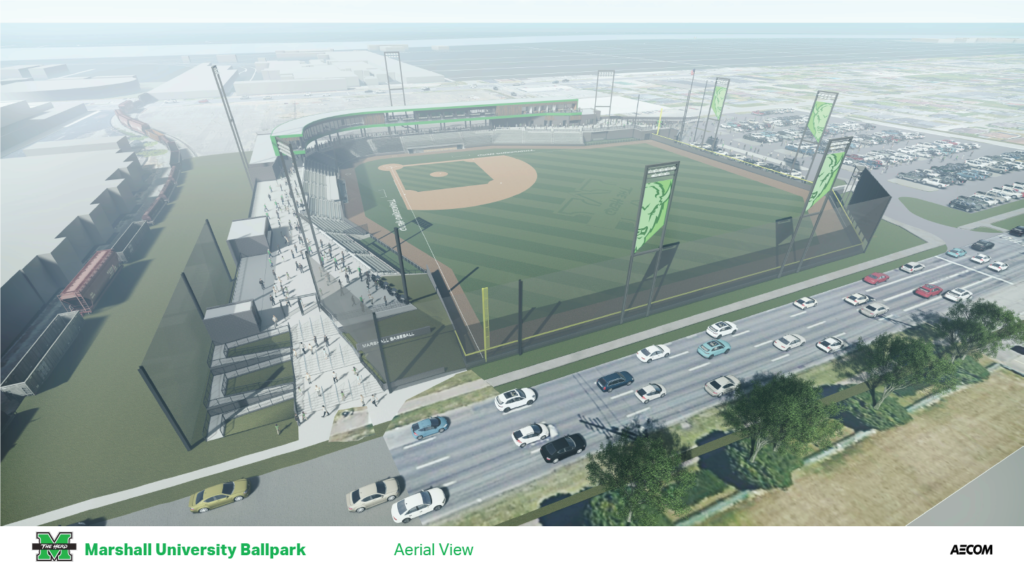 Marshall University Ballpark Rendering October 2019