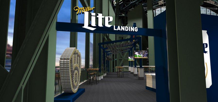 Miller Lite Landing rendering
