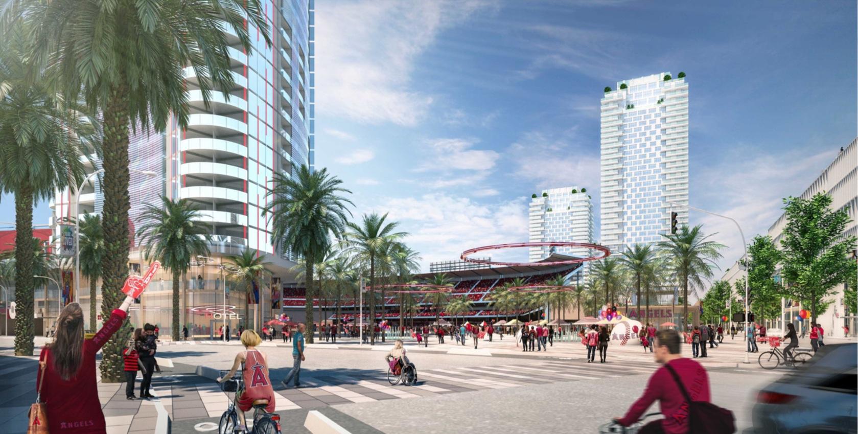 Anaheim development plan Angels June 2020