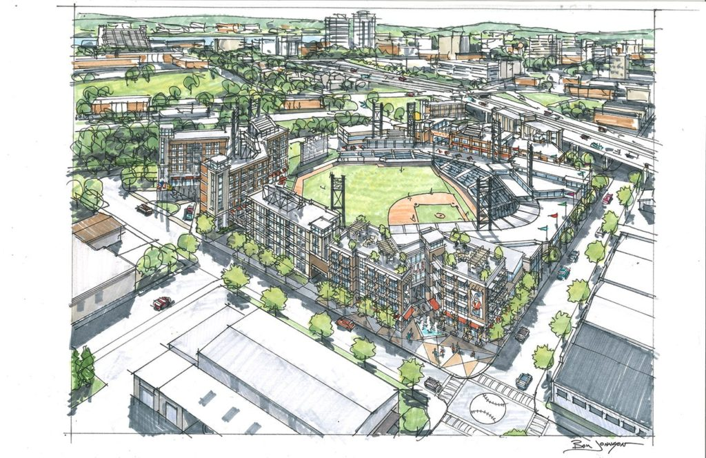 Proposed new Knoxville ballpark